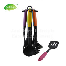 7 Piece Nylon Kitchen Utensils Set Rotating Stand
