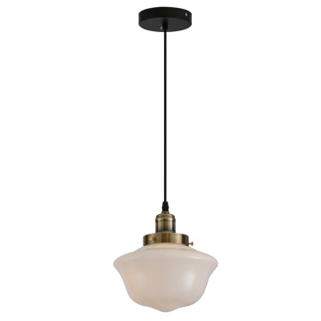 White color glass post modern pendant lamp