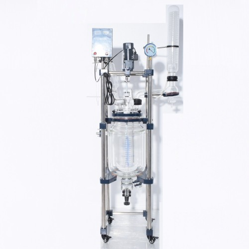 Large scale electric heating 100 liter glass reactor