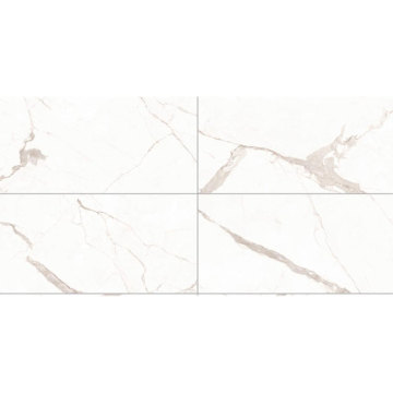 Extra large white marble floor porcelain tiles