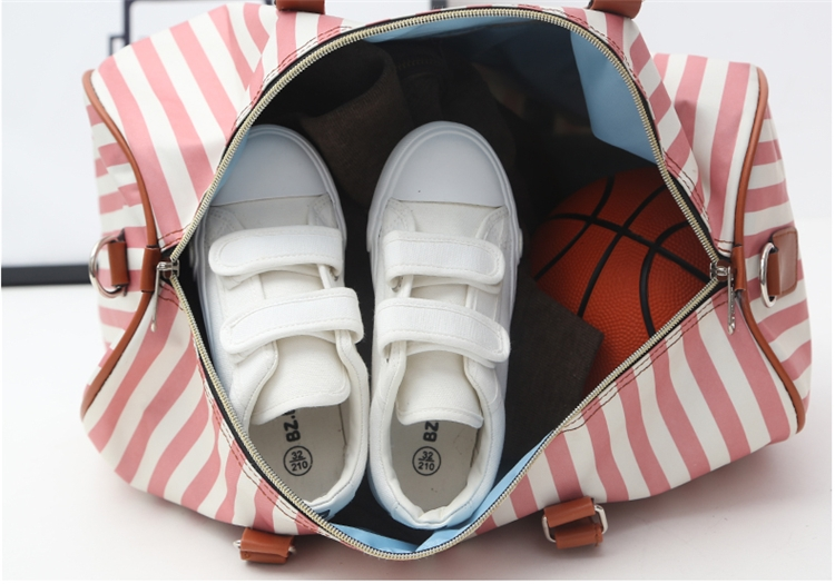 Stripe Duffle Bag
