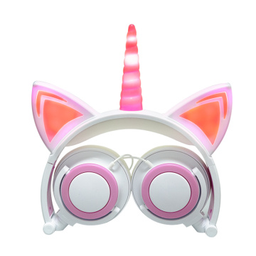 Super bass stereo led kids cute girls headphone