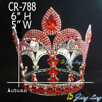 Red Round Flower-de-luce Fashion Crowns