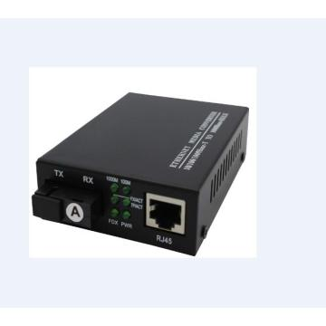 Gigabit Copper Single To Multimode Fiber Ethernet Switch Converter
