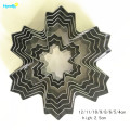 Stainless Steel Christmas 9pcs Snowflake Cookie Cutter Set