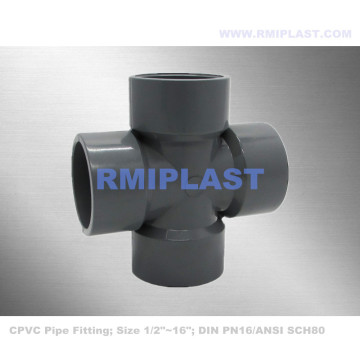 CPVC Cross Fitting DIN PN16
