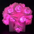 LED rosa große Rose Flower String Lights