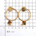 Clay Shamballa Crystal Earring Gold Stud Earrings For Lady