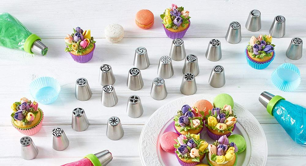 10PCS Stainless Steel Flower Icing Piping Nozzles Tips