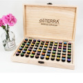 2ml 77 bottles natural divider essential oil storage wooden box