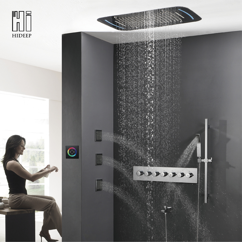 LED thermostatic shower faucet