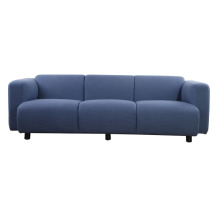 Modern blue fabric living room sofa
