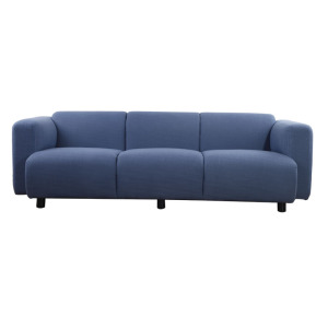 professional factory provide for Modern Sofa Modern blue fabric living room sofa supply to Spain Exporter