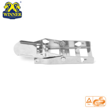 White Zinc Webbing Buckle 2 Inch Steel Overcenter Buckle