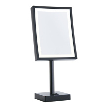 Square magnifying lighted Vanity table mirror