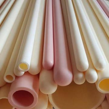 Refractory alumina ceramic thermocouple protection tubes