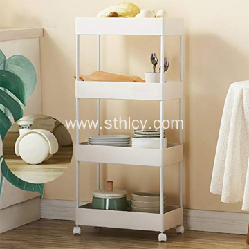 Metal Utility Kitchen Beauty Bathroom Rack with Wheels