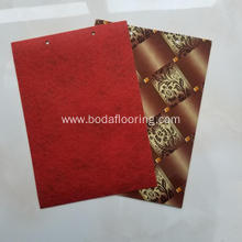 virgin 70g/sqm PVC red felt backing PVC flooring