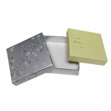 Luxury printing Silver paper card gift Packaging box