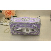Retro Wooden Carving Tissue Box