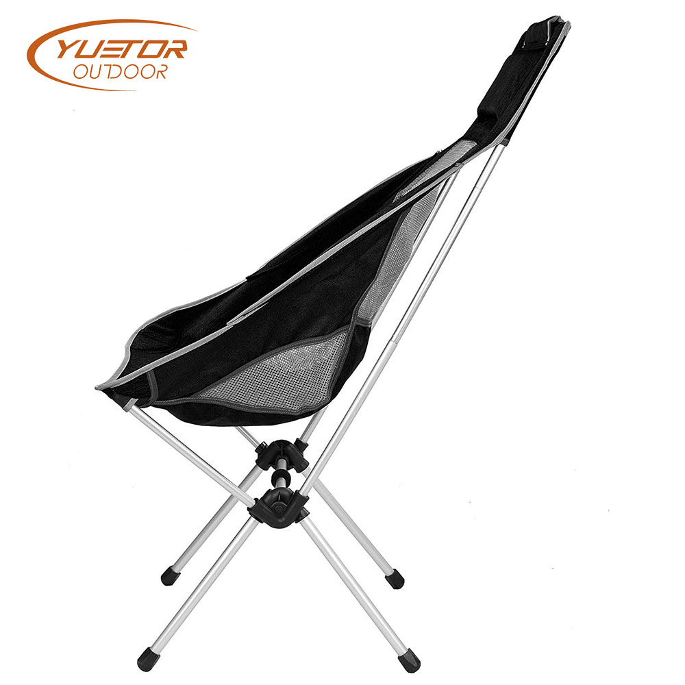 Heavy Duty High Back Camping Festival Chair Side