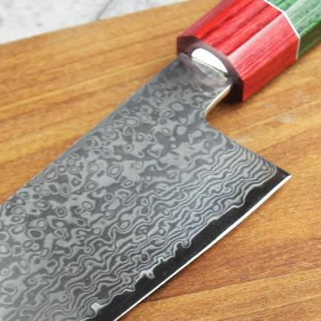 Hammered Damascus Chef Knife kitchen knife