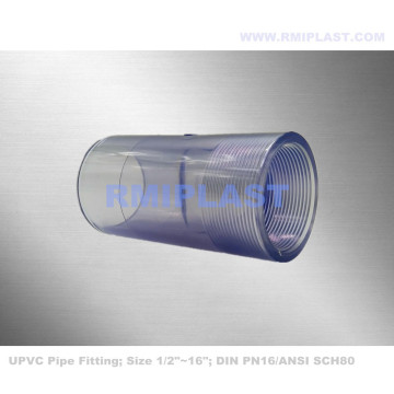Clear PVC Female Coupling SCH80 PN16
