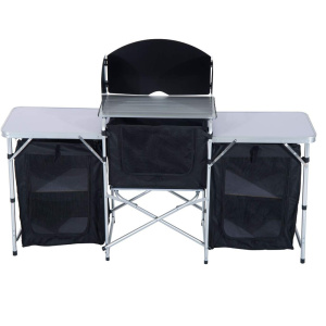 6' Deluxe Portable Fold-Up Camp Kitchen with Windscreen