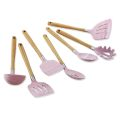 7PCS Silicone Utensil Set With Beech Wood Handle