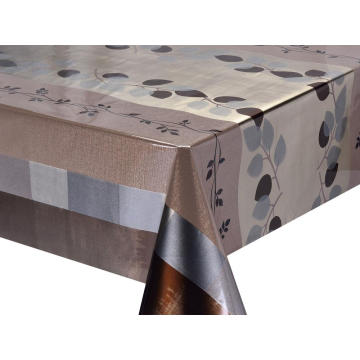 Double Face Emboss printed Gold Silver Tablecloth Miami
