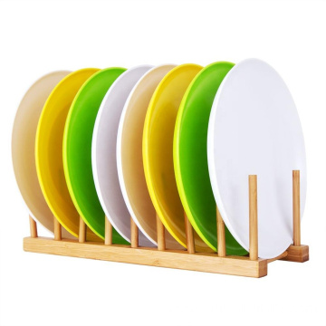 Kitchen bamboo dish drying rack