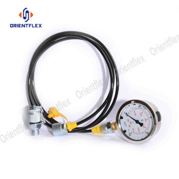 Hydraulic microbore test hose pipe
