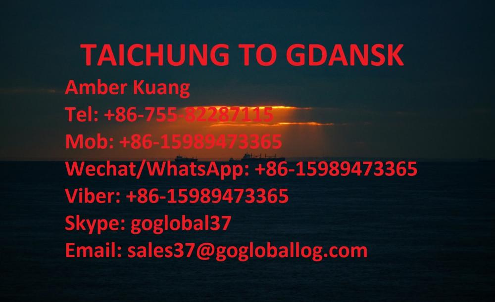 Taiwan Taichung Sea Freight to Poland Gdansk