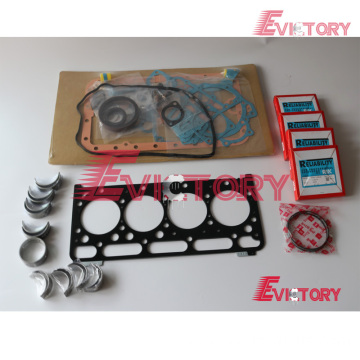 KUBOTA V2403T rebuild overhaul kit gasket bearing piston
