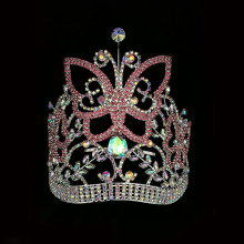 Animal Butterfly Rhinestone Tiara Pageant Crown