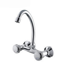 Plated Chrome Swan Neck Kitchen Sink Tap Faucet
