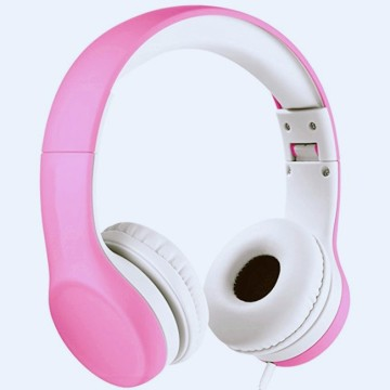 Kids Pink Headphones Volume Limiting Audio Sharing Port