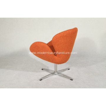 Leading for Fabric Round Lounge Chair orange fabric swan chair with alu leg supply to South Korea Manufacturer