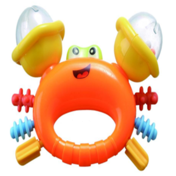 Safety Cute Crab Shape baby bell toy