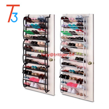 Amazon and E-Bay hot selling 36 pair over the door hanging shoe rack
