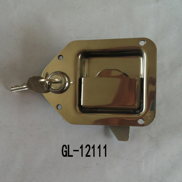 Flush Mount Key-Locking Grab Recessed Paddle Lock