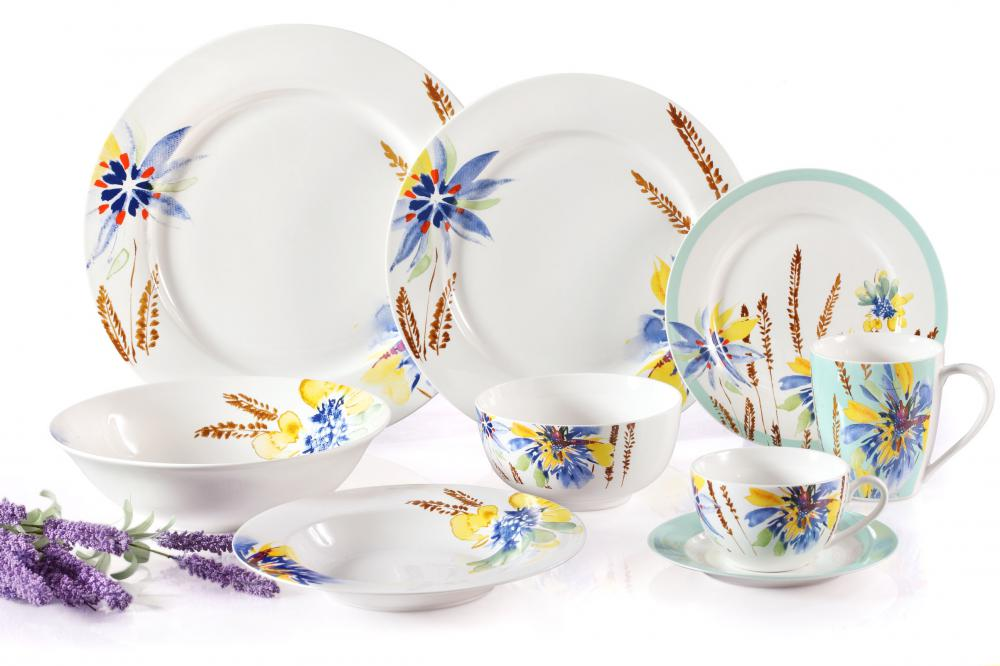 Flower Printing High Grade New Bone Dinner Set