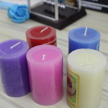 colorful fragrant pillar candles for gift set