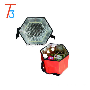 Fashion design lunch bag adjustable insulated shoulder picnic cooler bag