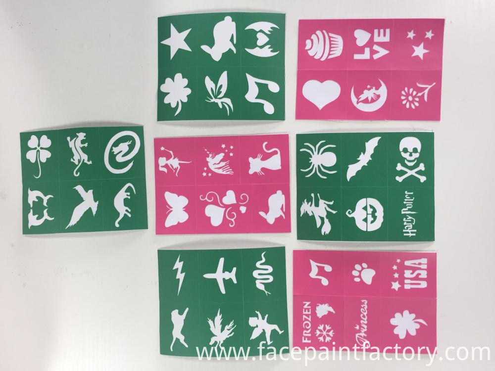 Soft Face Paint Stencils