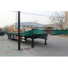 50T green lowbed trailer truck