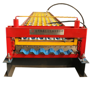 Color steel galvanized roof tile ibr roll machine