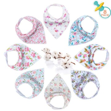 Bandana Dribble Bibs Girls-8P