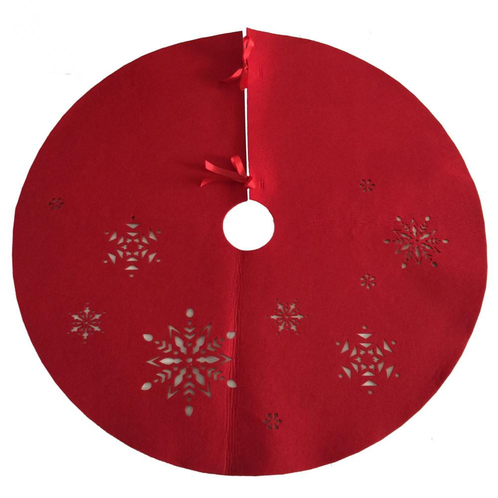 Hollow Snowflake Pattern Christmas Tree Skirt