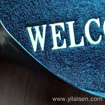 Indoor and outdoor welcome PVC coil mat